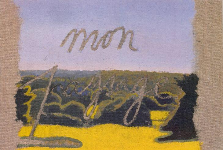 photographie d'un détail d'une peinture de l'artiste