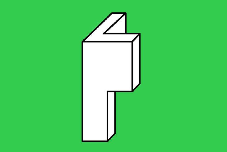 forme abstraite sur fond vert
